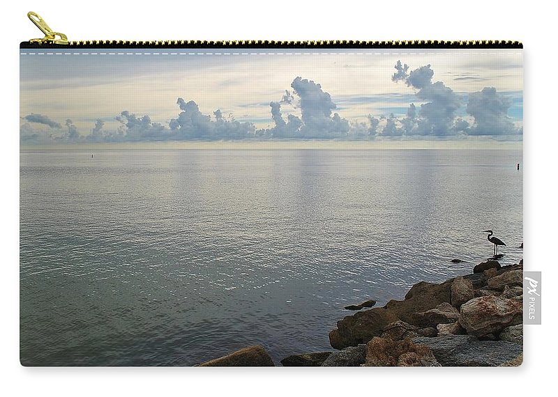 Seascape Carry-all Pouch featuring the photograph Scapes 7 17 by John Hintz