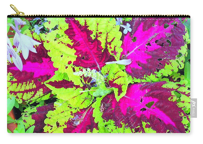 Flower Carry-all Pouch featuring the photograph Natural Abstraction by Ian MacDonald
