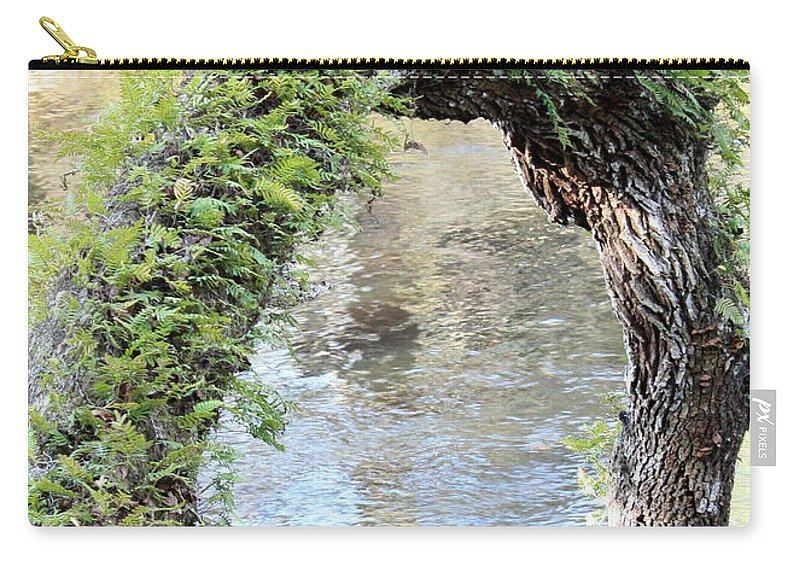 Florida Landscape Carry-all Pouch featuring the photograph Natural Archway Over Hillsborough River by Carol Groenen