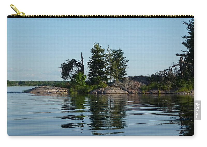 Lake Carry-all Pouch featuring the photograph Natural Breakwater by Ruth Kamenev