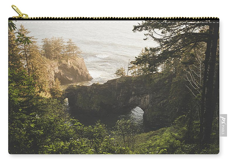 Oregon Carry-all Pouch featuring the photograph Natural Bridges Cove by Chad Gray