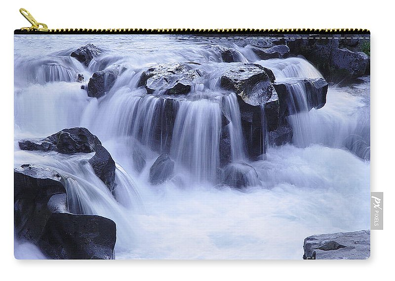Waterfall Carry-all Pouch featuring the photograph Natural Bridges Falls 01 by Peter Piatt
