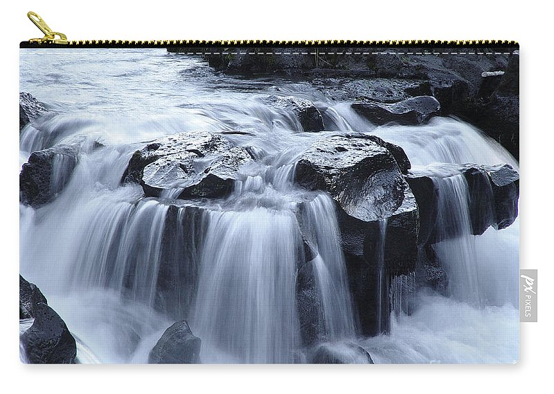 Waterfall Carry-all Pouch featuring the photograph Natural Bridges Falls 02 by Peter Piatt