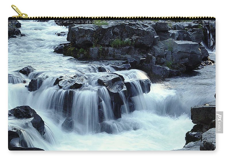Waterfall Carry-all Pouch featuring the photograph Natural Bridges Falls 03 by Peter Piatt