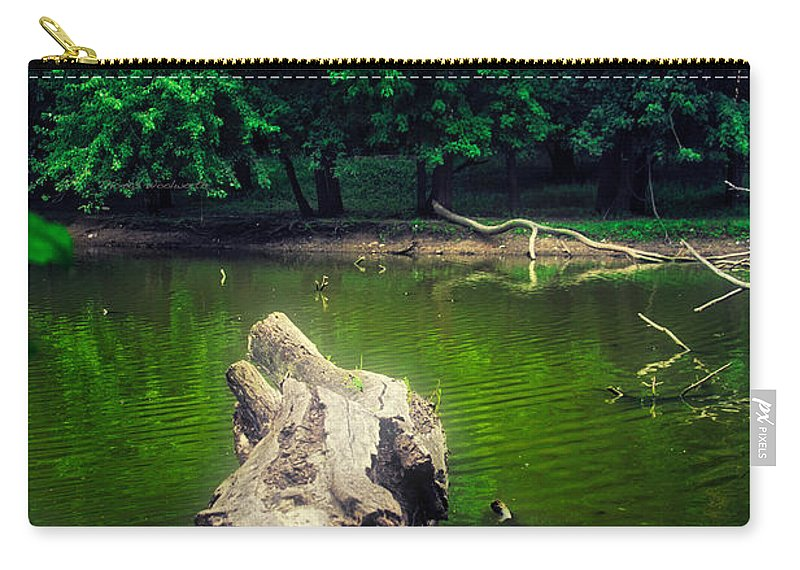 River Carry-all Pouch featuring the photograph Natural Fishing Pier by Thomas Woolworth