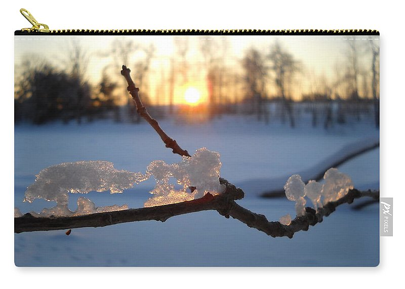 Sunrise Carry-all Pouch featuring the photograph Natural Ice Animals In Winter by Kent Lorentzen