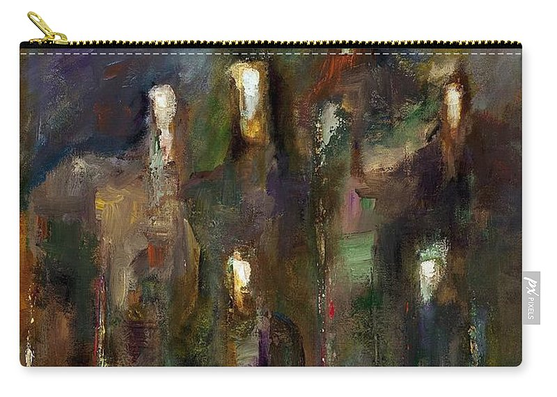 Horses Carry-all Pouch featuring the painting Natural Instincts by Frances Marino