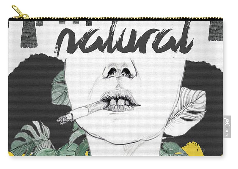 Print Carry-all Pouch featuring the digital art Natural by Nuki Chikhladze