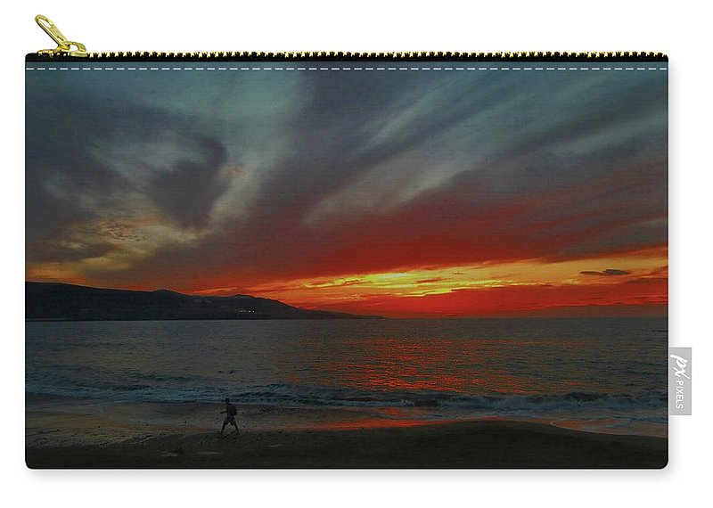 Landscape Carry-all Pouch featuring the pyrography Naturaleza Al Rojo Pasion by Rigoberto Garcia