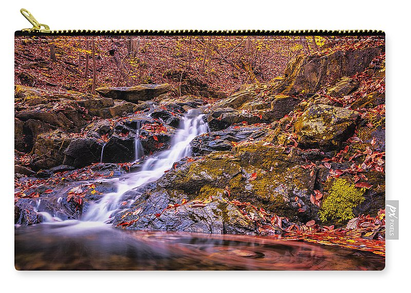 Leaf Trails Carry-all Pouch featuring the photograph Naturally by Edward Kreis