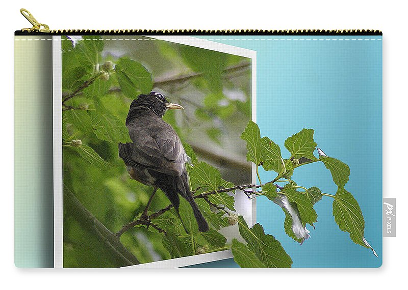 2d Carry-all Pouch featuring the photograph Nature Bird by Brian Wallace