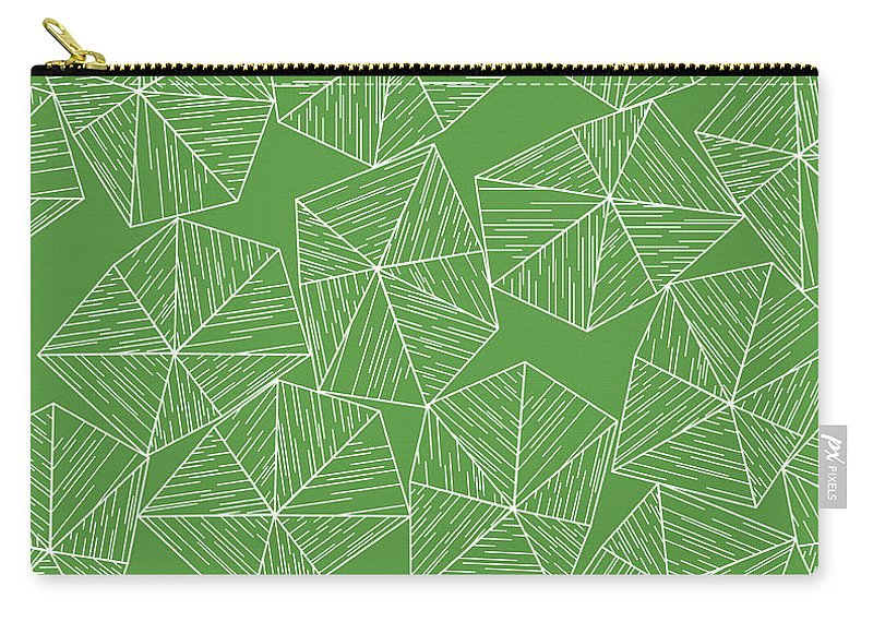 Green Carry-all Pouch featuring the digital art Nature Free by Icto Design