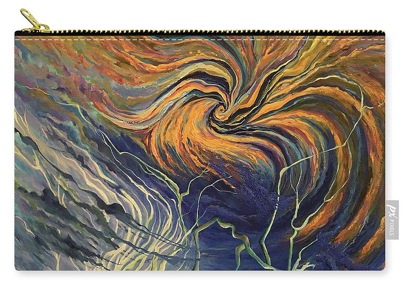 Nature Frustration Carry-all Pouch featuring the painting Nature Frustration by Ahmed Al-Saleh