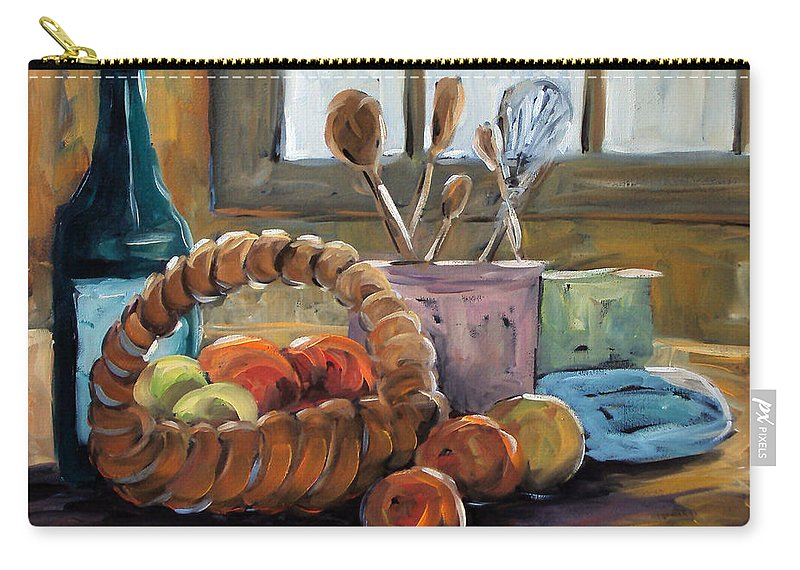 Art Carry-all Pouch featuring the painting Nature Morte by Richard T Pranke