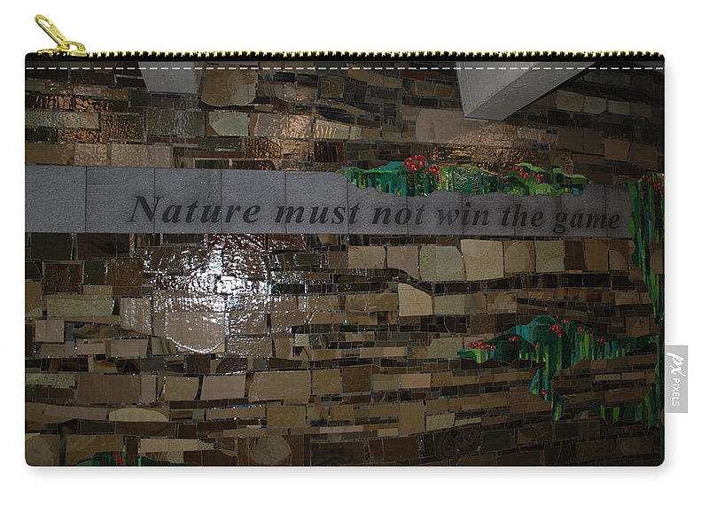 Nature Carry-all Pouch featuring the photograph Nature Must Not Win The Game by Rob Hans