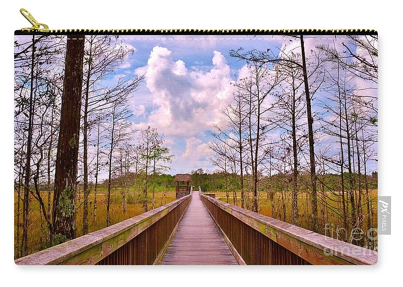 Nature Path Carry-all Pouch featuring the photograph Nature Path by Lisa Renee Ludlum