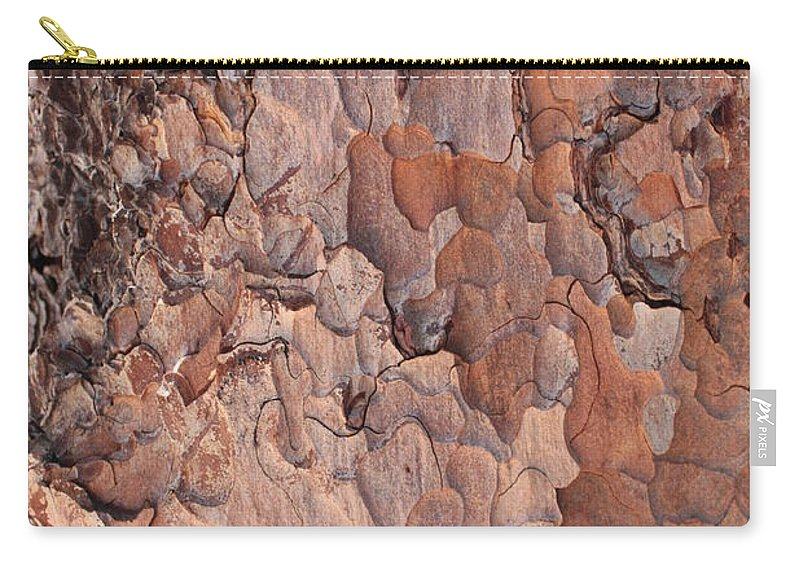 Bark Carry-all Pouch featuring the photograph Nature Puzzle by Carol Groenen