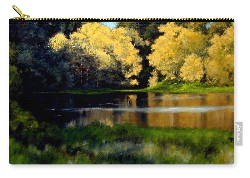 Landscape Carry-all Pouch featuring the painting Nature Walk by Jim Gola
