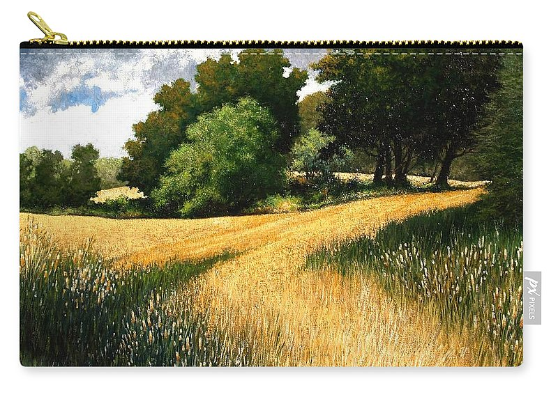 Landscape Carry-all Pouch featuring the painting Nature Walk Ridgefield Washington by Jim Gola