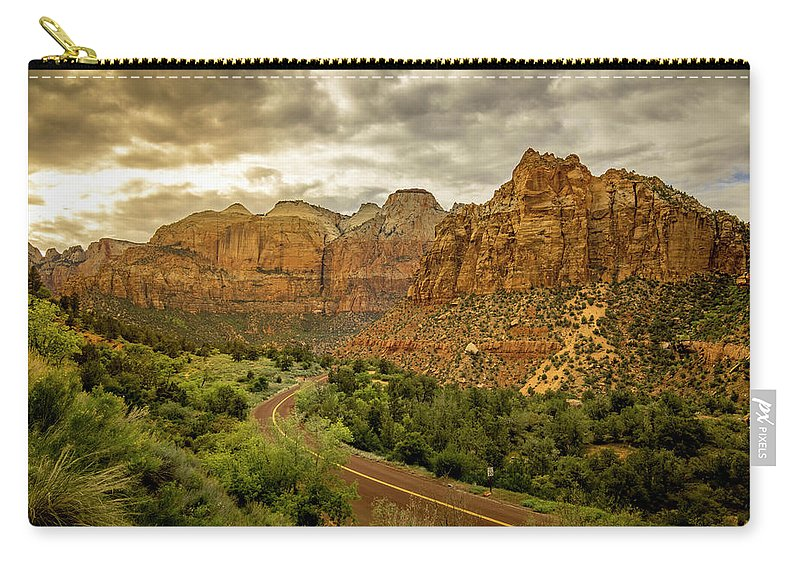 Landscape Carry-all Pouch featuring the photograph Natures Best In Zion by Justin Nagrassus