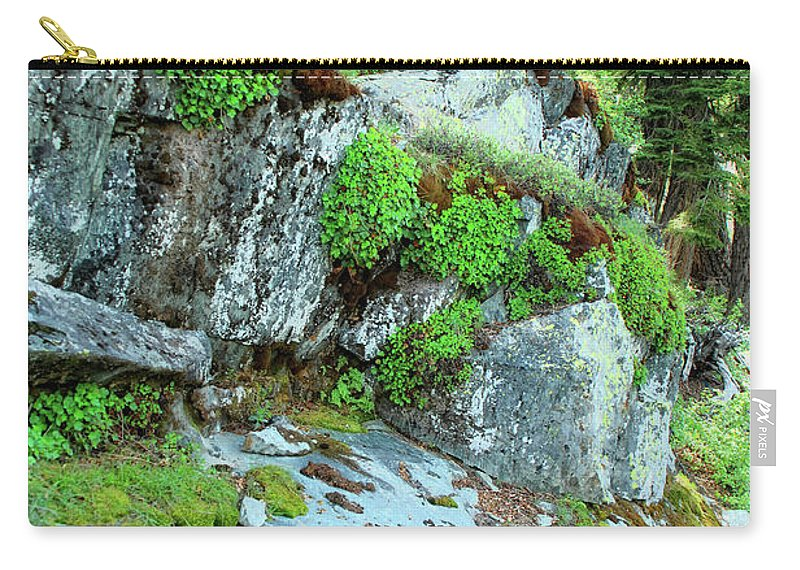 Nature Carry-all Pouch featuring the photograph Nature's Collage by Donna Blackhall