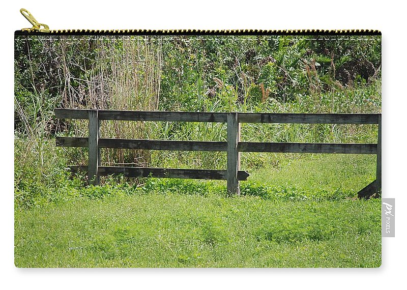Fence Carry-all Pouch featuring the photograph Natures Fence by Rob Hans
