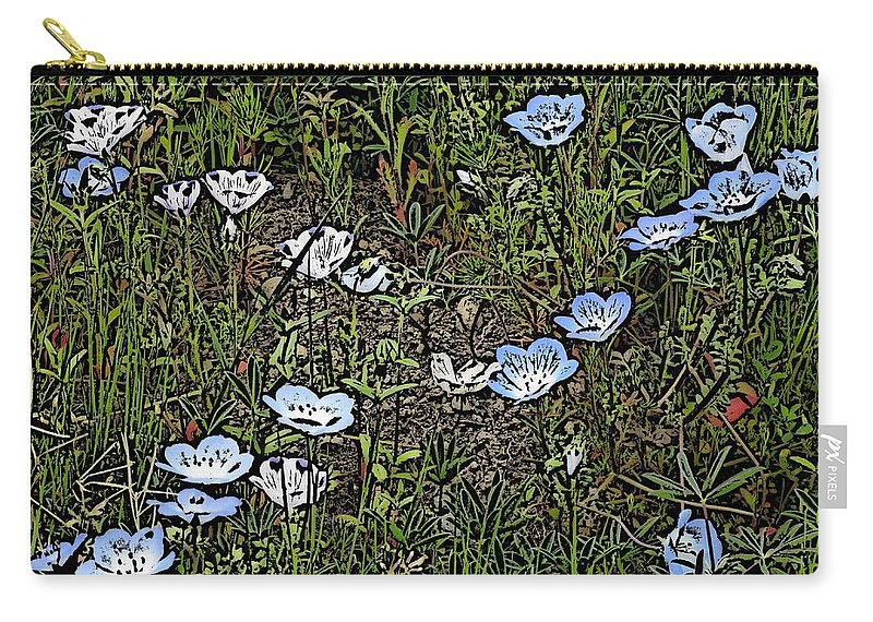 Flowers Carry-all Pouch featuring the digital art Natures Field Of Dreams by Tim Allen
