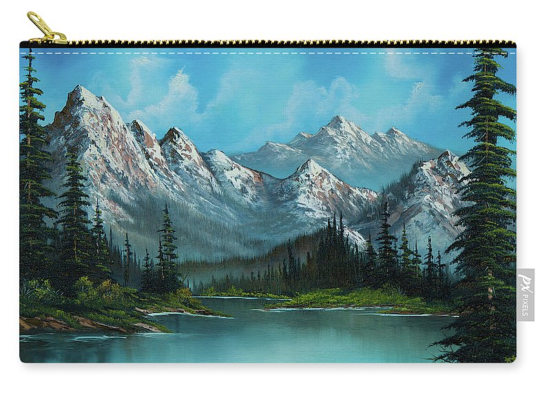 Landscape Carry-all Pouch featuring the painting Nature's Grandeur by Chris Steele