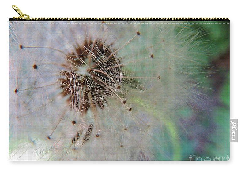 Seeds Carry-all Pouch featuring the photograph Natures New Life 1 by Mel Manning