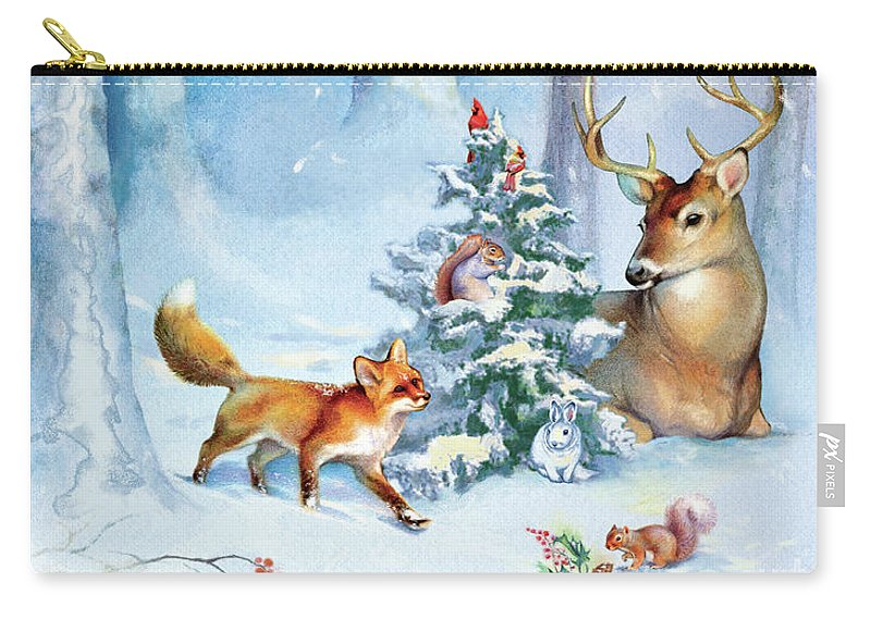 Nature Carry-all Pouch featuring the painting Nature's Season by Tracy Herrmann