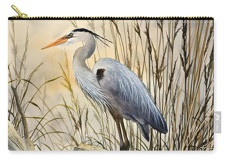 Heron Fine Art Prints Carry-all Pouch featuring the painting Nature's Wonder by James Williamson