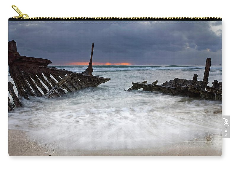 Keel Carry-all Pouch featuring the photograph Nautical Skeleton by Mike Dawson