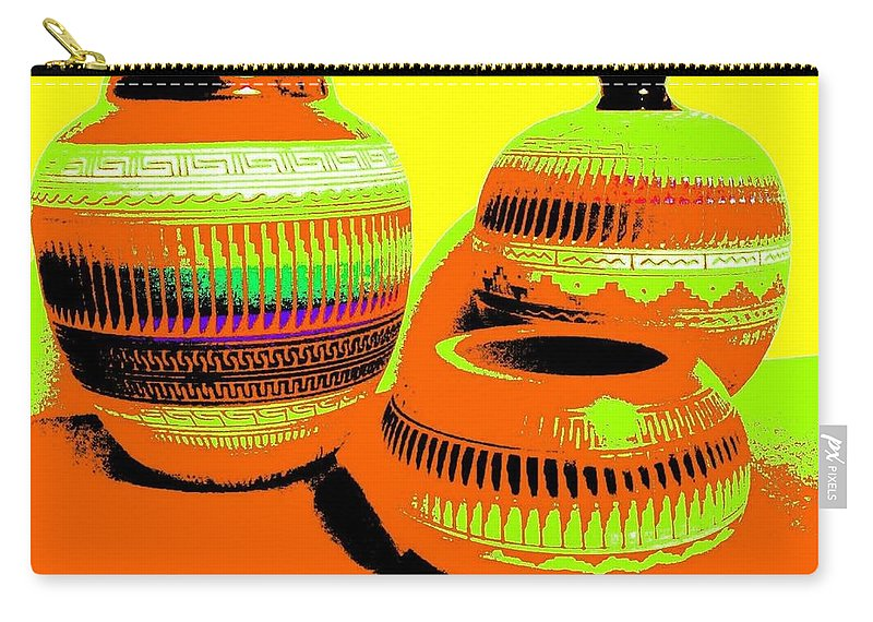 Abstract Carry-all Pouch featuring the digital art Navajo Pots by Will Borden