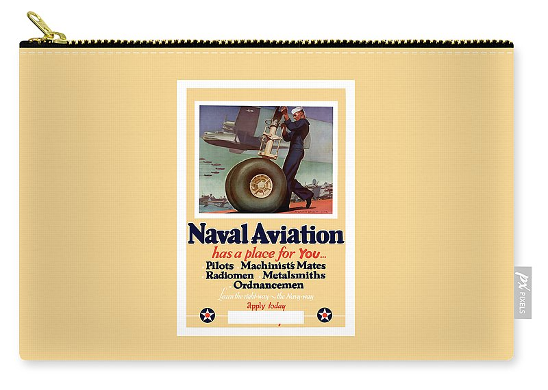 Navy Carry-all Pouch featuring the painting Naval Aviation Has A Place For You by War Is Hell Store