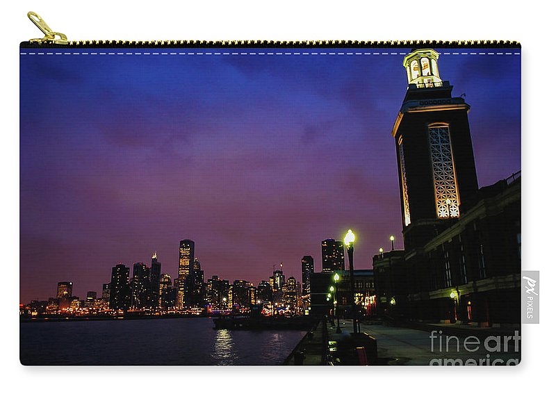 Chicago Carry-all Pouch featuring the photograph Navy Pier Sunset by Brandon Hirt