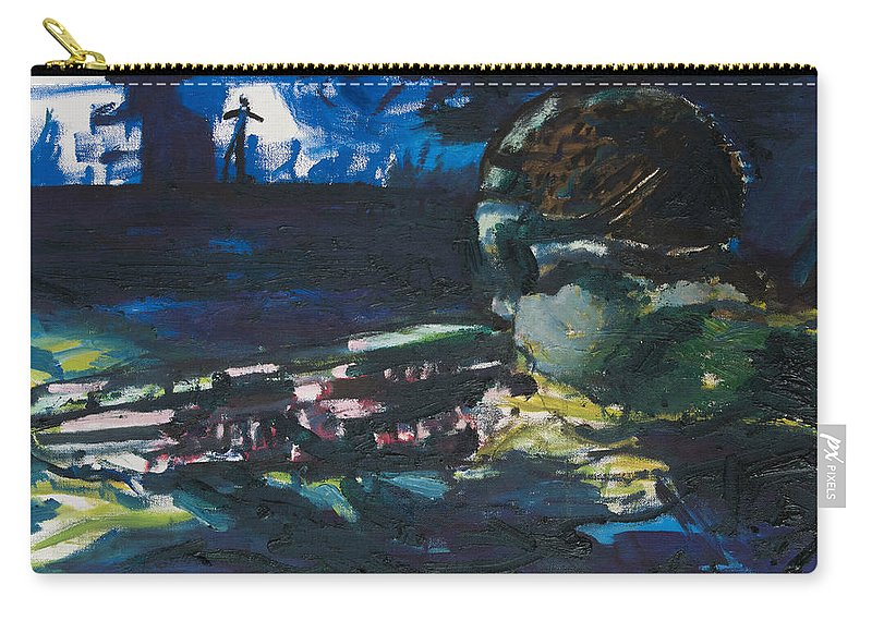 Navy Seal Carry-all Pouch featuring the painting Navy Seal by Craig Newland