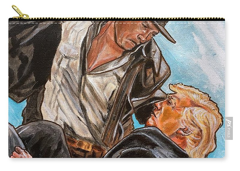Indiana Jones Carry-all Pouch featuring the painting Nazis. I Hate Those Guys. by Joel Tesch