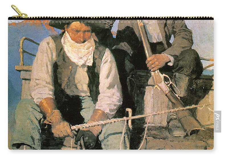 1909 Carry-all Pouch featuring the photograph N.c. Wyeth: The Pay Stage by Granger