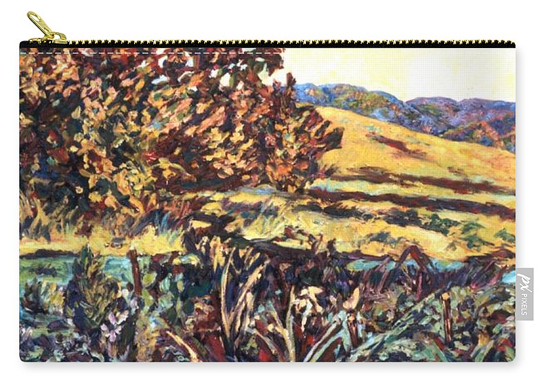 Landscape Carry-all Pouch featuring the painting Near Childress by Kendall Kessler