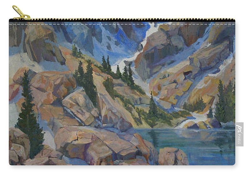 Hayden Spires Carry-all Pouch featuring the painting Near Hayden Spires by Heather Coen
