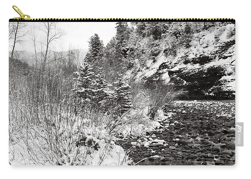Winter Carry-all Pouch featuring the photograph Near Telluride Colorado by Marilyn Hunt