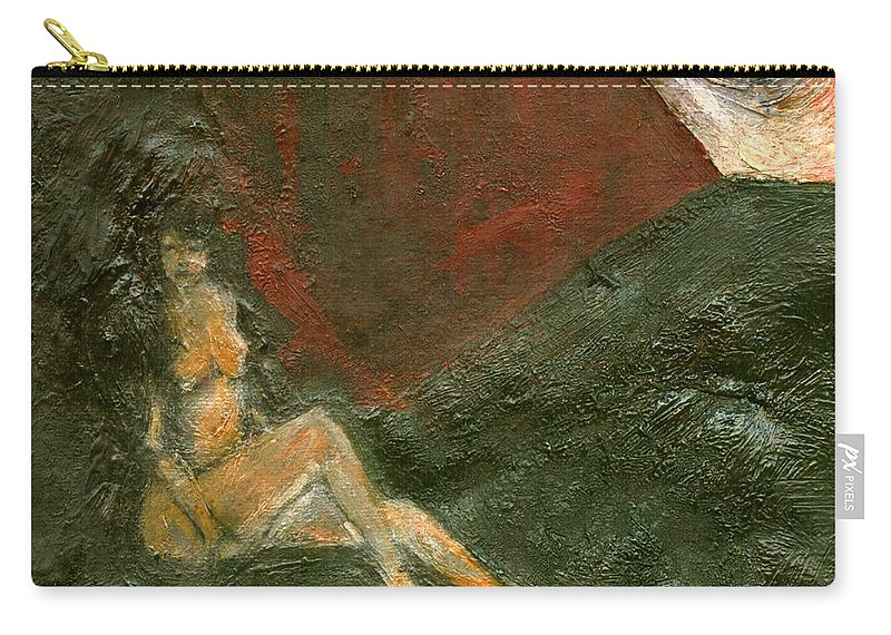 Colour Carry-all Pouch featuring the painting Near Wall I by Wojtek Kowalski