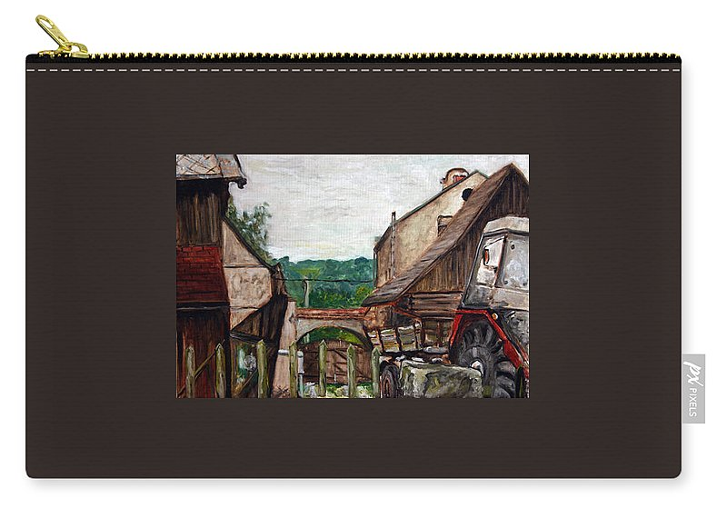 Landscape Carry-all Pouch featuring the painting Nebocadsky Statek by Pablo de Choros