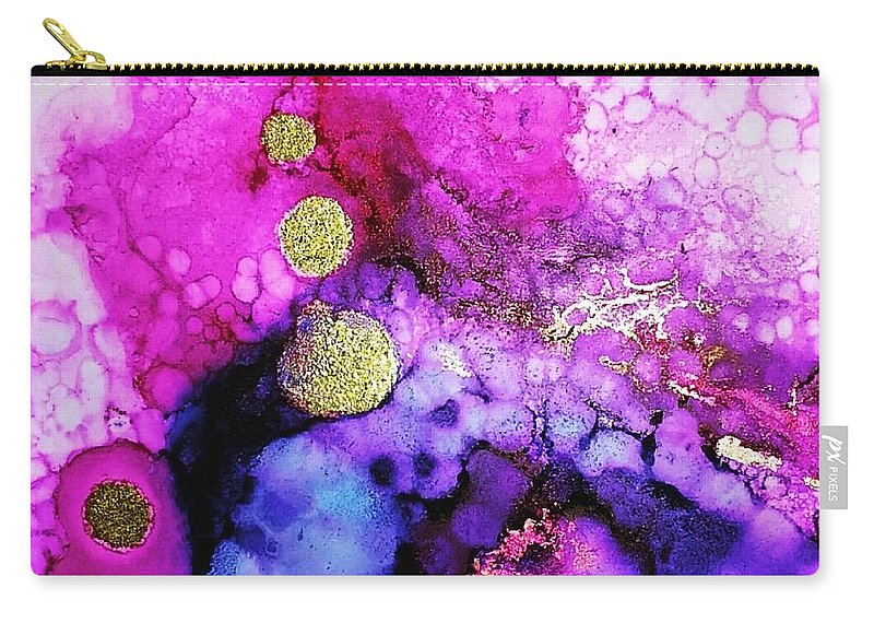 Carry-all Pouch featuring the painting Nebula by Lisa Marrelli