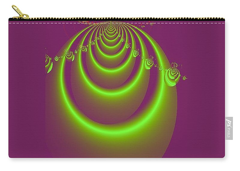 Digital Art Carry-all Pouch featuring the digital art Necklace by Dragica Micki Fortuna
