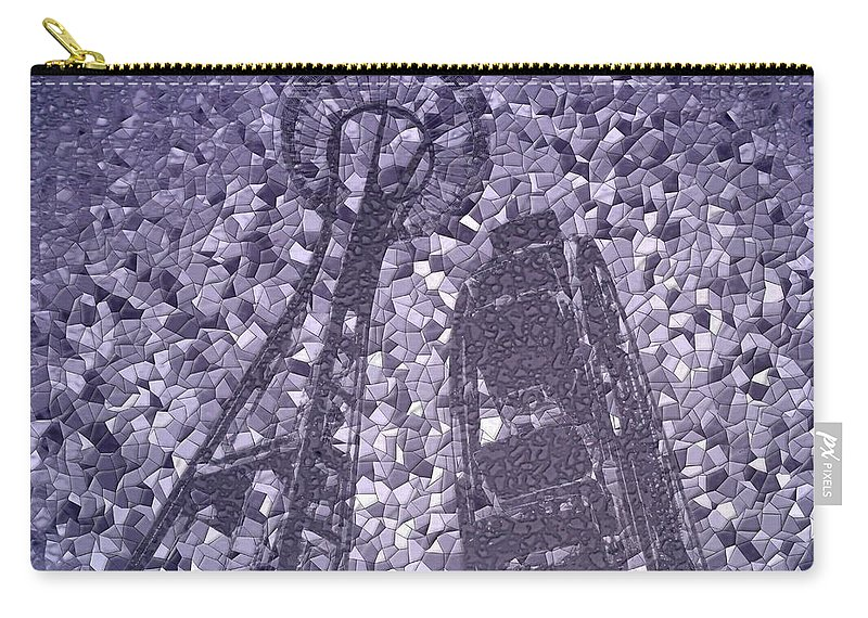 Seattle Carry-all Pouch featuring the photograph Needle And Ferris Wheel Mosaic by Tim Allen