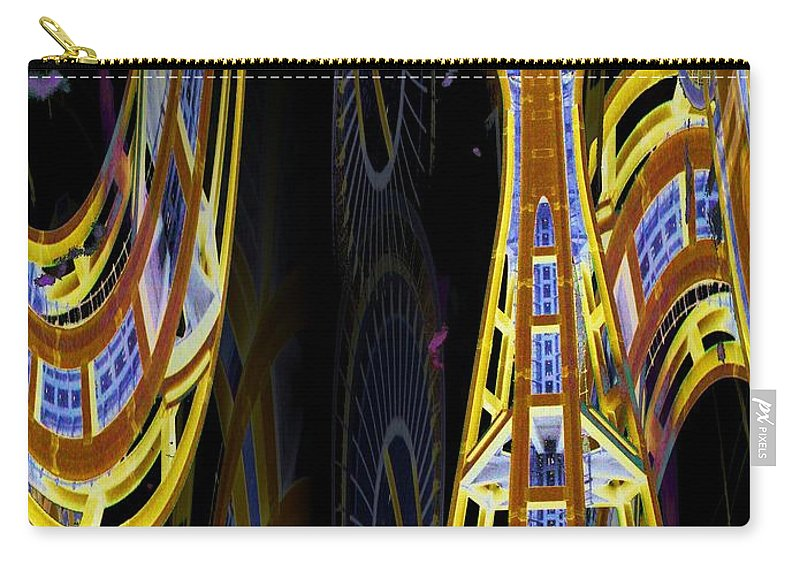 Seattle Carry-all Pouch featuring the digital art Needle And Ferris Wheel by Tim Allen