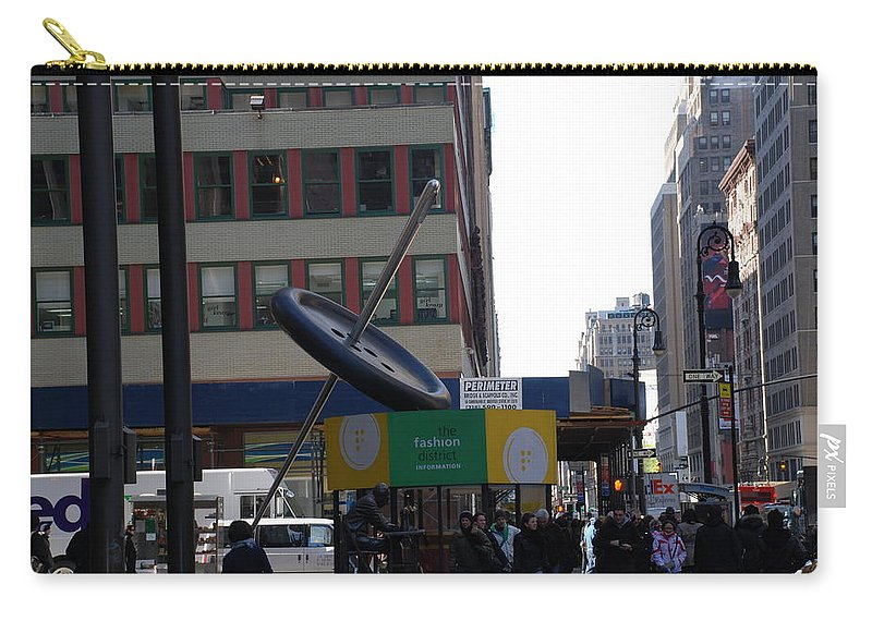City Scape Carry-all Pouch featuring the photograph Needle Button by Rob Hans