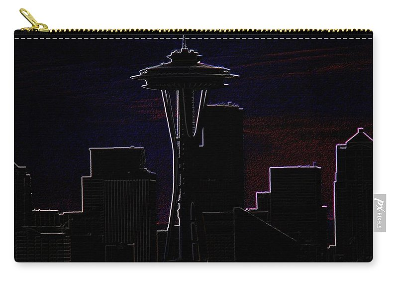 Seattle Carry-all Pouch featuring the photograph Needle From Kerry Park 2 by Tim Allen
