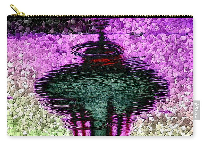 Seattle Carry-all Pouch featuring the digital art Needle In A Raindrop Stack 3 by Tim Allen